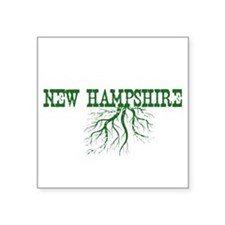 "New Hampshire Roots Square Sticker 3"" x 3"""