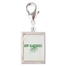 New Hampshire Roots Silver Portrait Charm