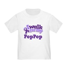 walk for pop pop purple poofy T-Shirt