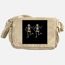 Skeleton Bones Halloween Messenger Bag