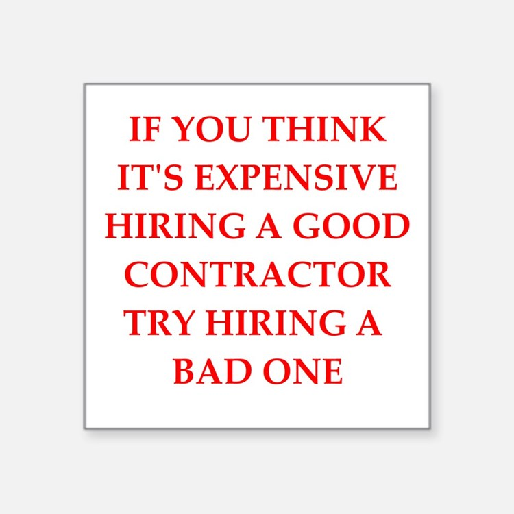contractor Sticker