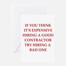 contractor Greeting Cards
