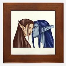 Elf Couple  Framed Tile