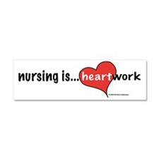 Cute I heart nursing Car Magnet 10 x 3
