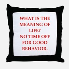 meaning of life Throw Pillow