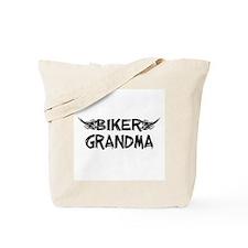 Biker Grandma Tote Bag