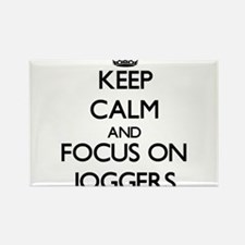 Keep Calm and focus on Joggers Magnets