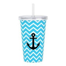 Cool Blue anchor Acrylic Double-wall Tumbler