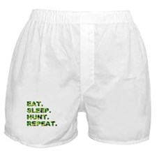 EAT. SLEEP. HUNT. REPEAT. Boxer Shorts