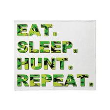 EAT. SLEEP. HUNT. REPEAT. Throw Blanket
