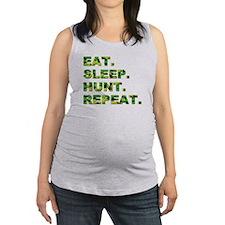 EAT. SLEEP. HUNT. REPEAT. Maternity Tank Top