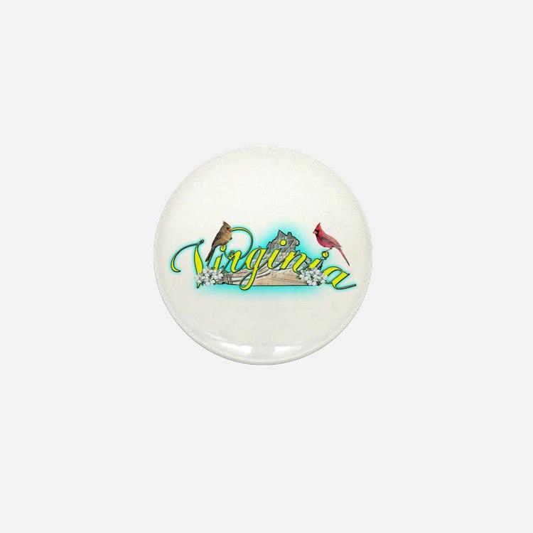 Virginia Mini Button