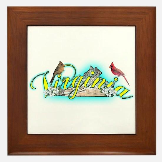 Virginia Framed Tile