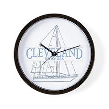 Cleveland sailing - Wall Clock