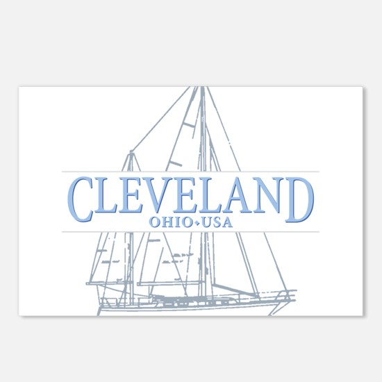 Cleveland sailing - Postcards (Package of 8)