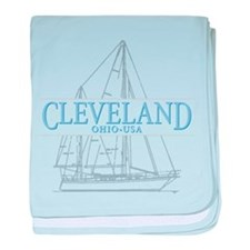 Cleveland sailing - baby blanket