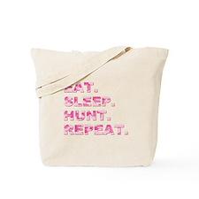 EAT. SLEEP. HUNT. REPEAT. Tote Bag