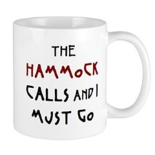 hammock calls Small Mugs