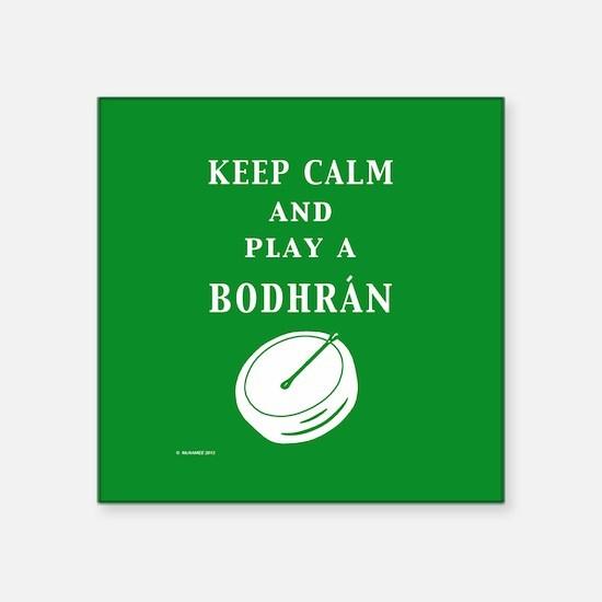 """Bodhran Square Sticker 3"""" x 3"""""""