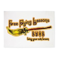 Broom Lessons 5'x7'Area Rug