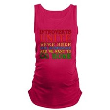 Introverts Unite Maternity Tank Top
