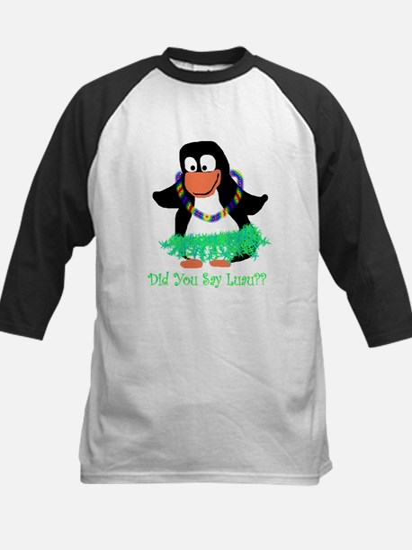penguin luau Kids Baseball Jersey