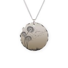 Cute Nature Necklace Circle Charm