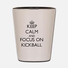 Cute Kickball Shot Glass