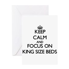 Keep Calm and focus on King Size Beds Greeting Car