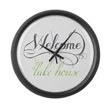 Welcome To The Lake House Large Wall Clock