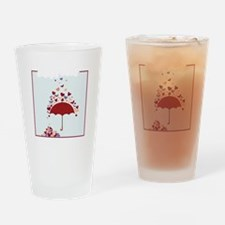 Raining Hearts Drinking Glass