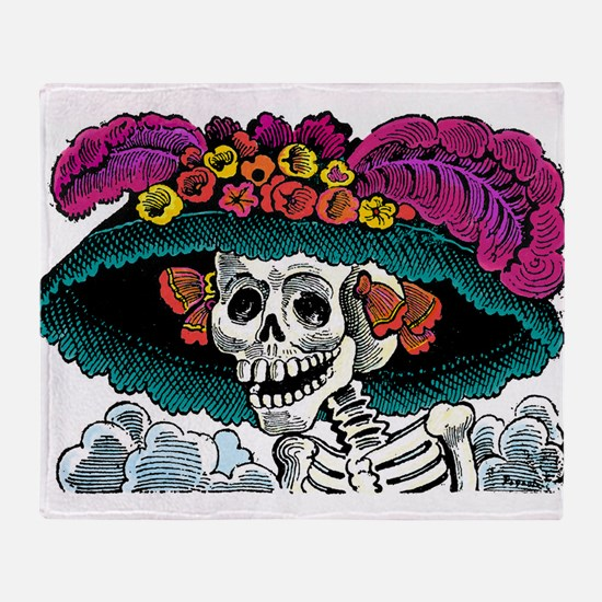 La Catrina Throw Blanket