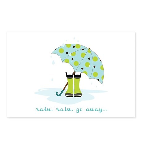 rainy weather postcards