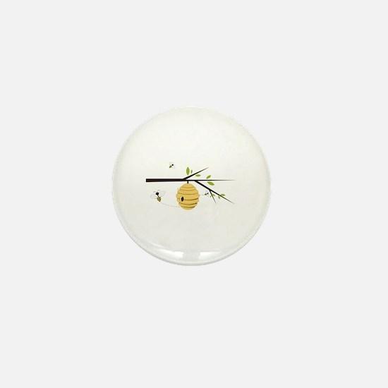 Beehive Mini Button