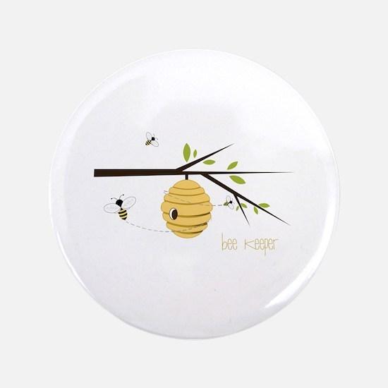 "Bee Keeper 3.5"" Button"