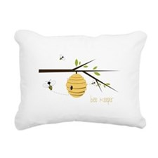 Bee Keeper Rectangular Canvas Pillow