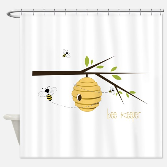 Bee Keeper Shower Curtain