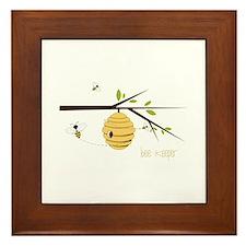 Bee Keeper Framed Tile