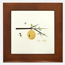 Bee Keeper Framed Tile