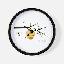 Bee Keeper Wall Clock