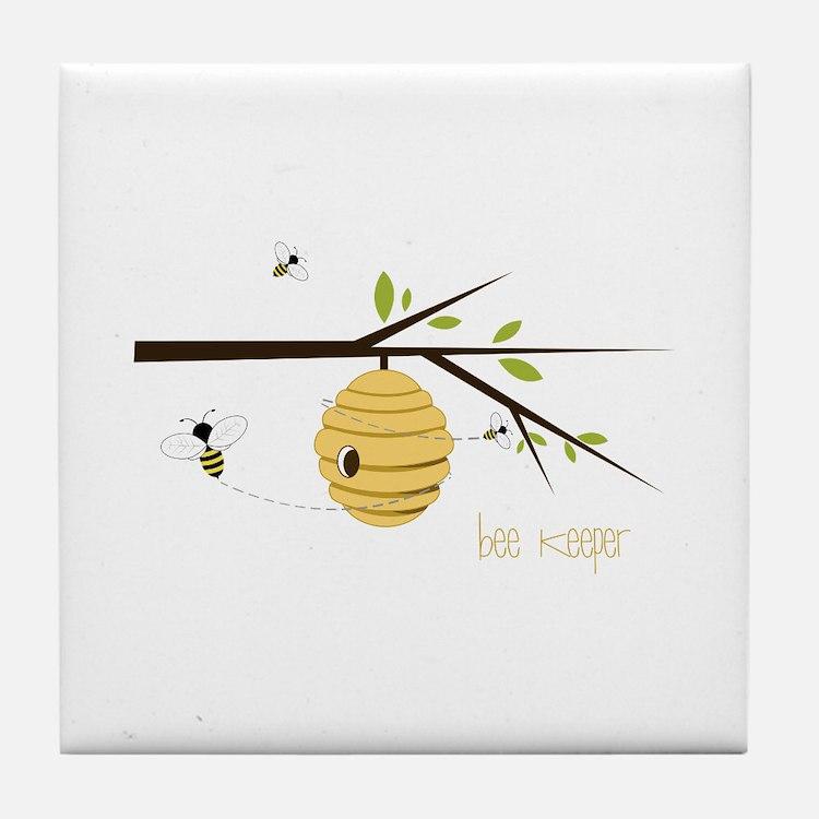 Bee Keeper Tile Coaster