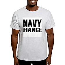 Navy Fiancé Caps T-Shirt