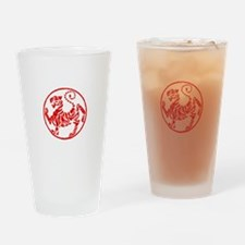 Shotokan Red Tiger Drinking Glass