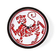 Shotokan Red Tiger Wall Clock