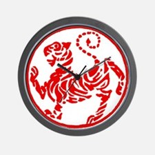 Shotokan Red Tiger Wall Clock
