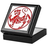 Shotokan karate Square Keepsake Boxes