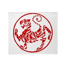 Shotokan Red Tiger Throw Blanket