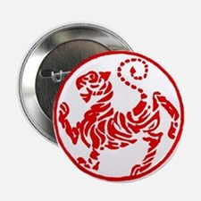 "Shotokan Red Tiger 2.25"" Button"