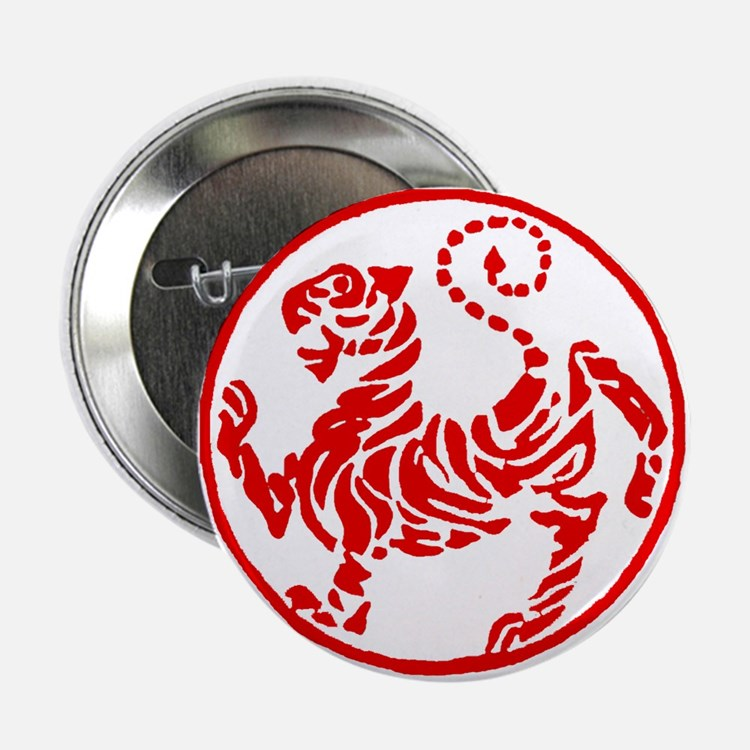 """Shotokan Red Tiger 2.25"""" Button"""