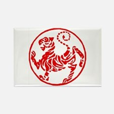 Shotokan Red Tiger Rectangle Magnet